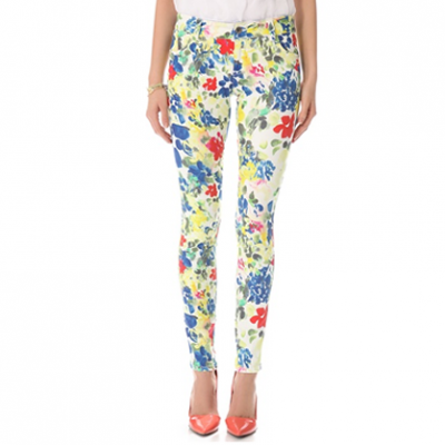 Floral Skinny Jeans | LadyLUX - Online Luxury Lifestyle, Technology and Fashion Magazine