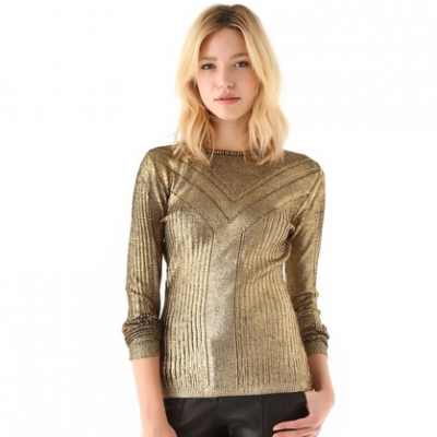 Gold Foil Sweater | LadyLUX - Online Luxury Lifestyle, Technology and Fashion Magazine