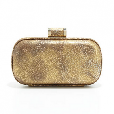 Gold Oblong Clutch | LadyLUX - Online Luxury Lifestyle, Technology and Fashion Magazine