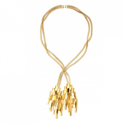 Mayan Gold—Plated Necklace | LadyLUX - Online Luxury Lifestyle, Technology and Fashion Magazine
