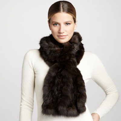 Sable Fur Scarf | LadyLUX - Online Luxury Lifestyle, Technology and Fashion Magazine