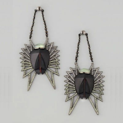 Scarab Drop Earrings | LadyLUX - Online Luxury Lifestyle, Technology and Fashion Magazine