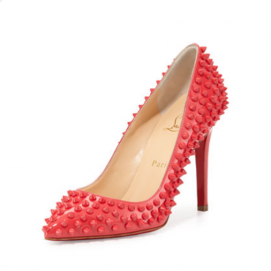 Spiked Patent Pumps