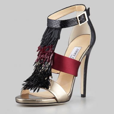 Fringed Metallic Sandal