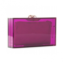 Acrylic Clutch with Jeweled Clasp