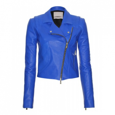 Blue Biker Jacket | LadyLUX - Online Luxury Lifestyle, Technology and Fashion Magazine