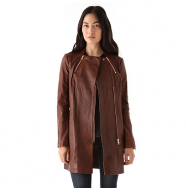 Beta Leather Coat