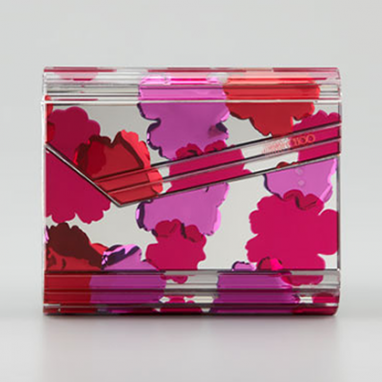 Mirrored Floral Clutch