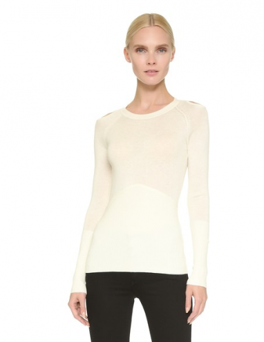Cutout Shoulder Sweater