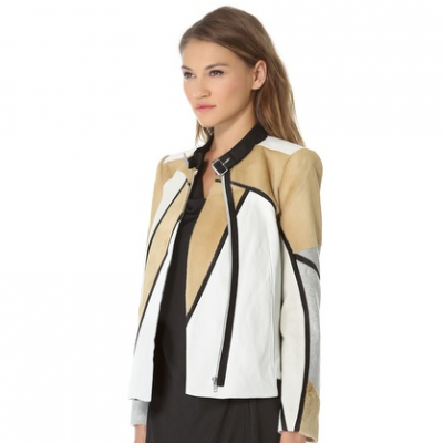 Colorblock Leather Jacket | LadyLUX - Online Luxury Lifestyle, Technology and Fashion Magazine