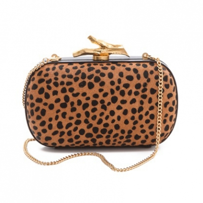 Spotted Haircalf Clutch | LadyLUX - Online Luxury Lifestyle, Technology and Fashion Magazine