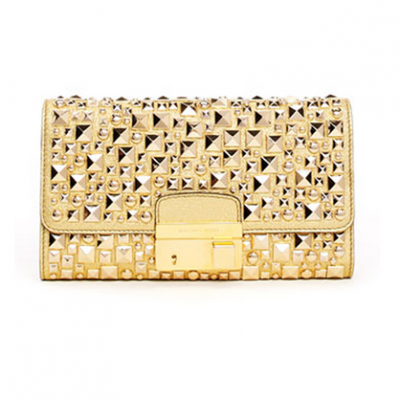 Studded Metallic Clutch | LadyLUX - Online Luxury Lifestyle, Technology and Fashion Magazine