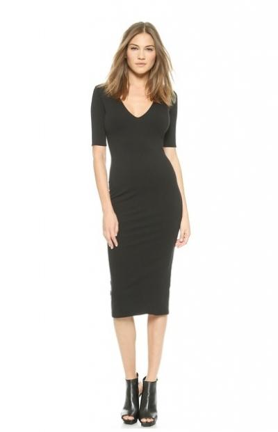 Black Mid Calf Length Dress Ladylux Online Luxury Lifestyle