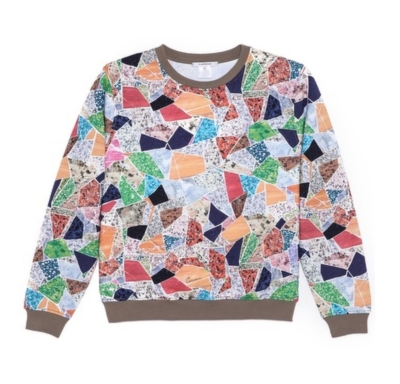 Mosaic Crew Neck | LadyLUX - Online Luxury Lifestyle, Technology and Fashion Magazine