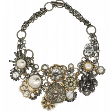 Collage Statement Necklace