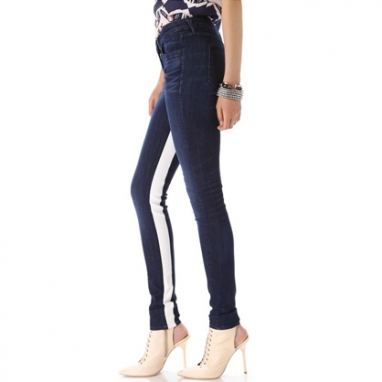 Racing Stripe Skinny Jeans