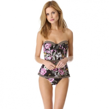 Floral Peplum Swimsuit
