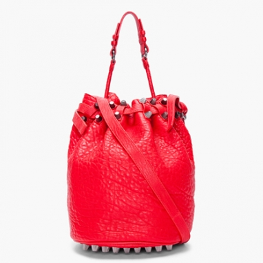 Red Diego Bucket Bag