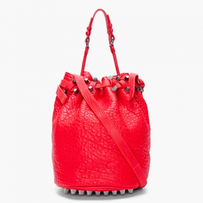 Red Diego Bucket Bag | LadyLUX - Online Luxury Lifestyle, Technology and Fashion Magazine