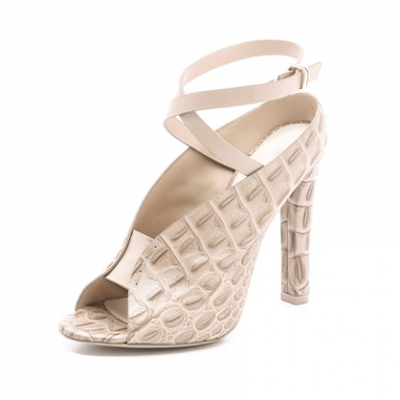 Croc Embossed Sandals | LadyLUX - Online Luxury Lifestyle, Technology and Fashion Magazine