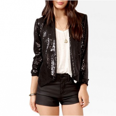 Sequin & Faux Leather Jacket | LadyLUX - Online Luxury Lifestyle, Technology and Fashion Magazine