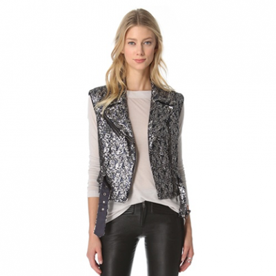 Sequin Moto Vest | LadyLUX - Online Luxury Lifestyle, Technology and Fashion Magazine