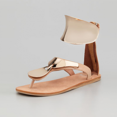 Gold Ankle Cuff Sandal