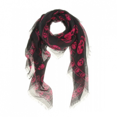 Skull Print Scarf | LadyLUX - Online Luxury Lifestyle, Technology and Fashion Magazine