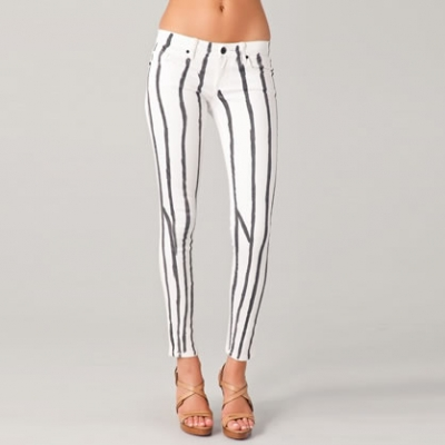 Paint Stripe Ankle Skinny Pants | LadyLUX - Online Luxury Lifestyle, Technology and Fashion Magazine