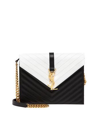 Shop: Saint Laurent Bicolor Monogramme Envelope   LadyLUX - Online ...