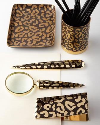 Leopard Desk Accessories | LadyLUX - Online Luxury Lifestyle, Technology and Fashion Magazine