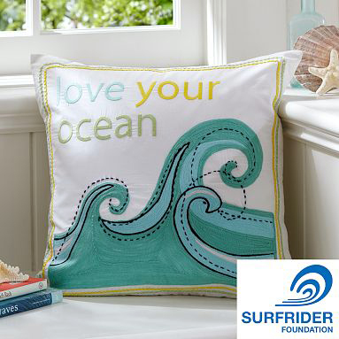 Love Your Ocean Organic Pillow Cover | LadyLUX - Online Luxury Lifestyle, Technology and Fashion Magazine