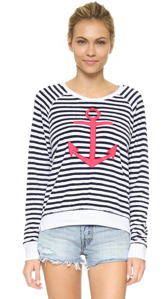 French Terry Anchor Pullover | LadyLUX - Online Luxury Lifestyle, Technology and Fashion Magazine